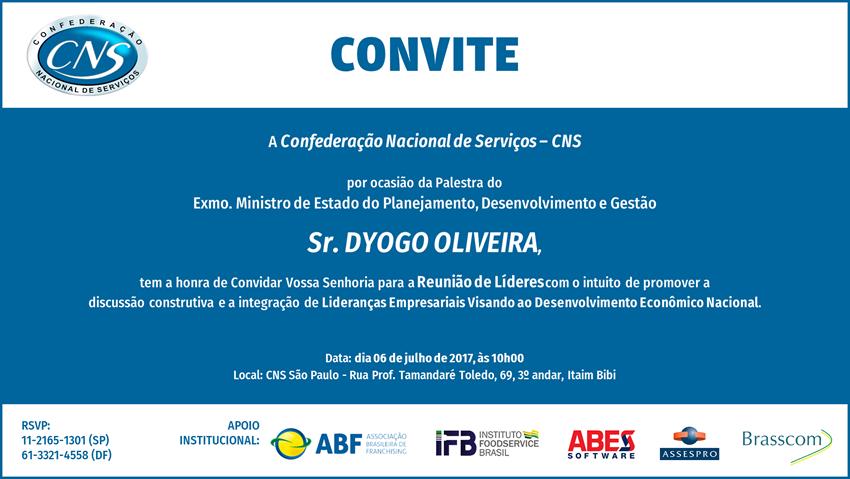 Convite CNS - Ministro Dyogo Oliveira-850x479